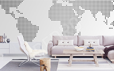 Fototapeta mapa minimalistyczna