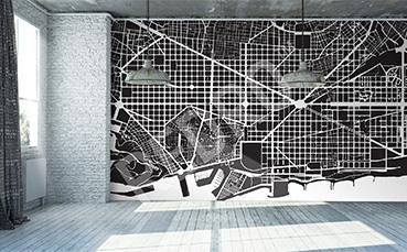Fototapeta mapa nowoczesna