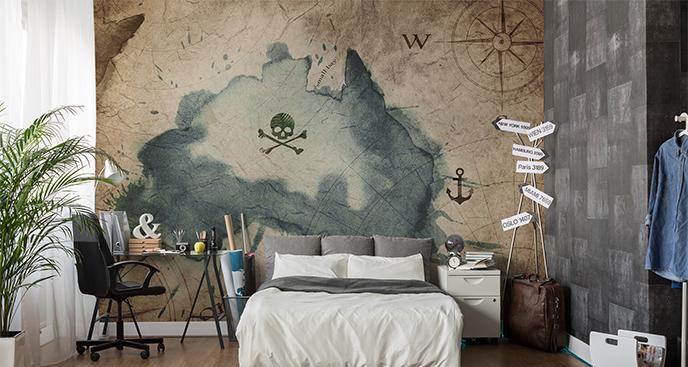 Fototapeta mapa piratów