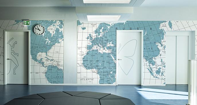 Fototapeta mapa polityczna do szkoły