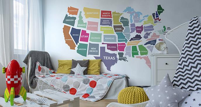 Fototapeta mapa polityczna USA