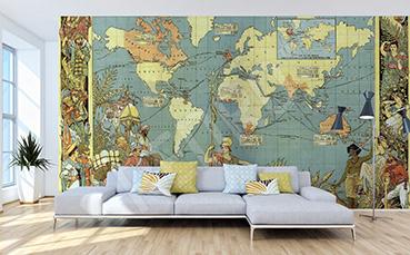 Fototapeta mapa retro: antyczny świat