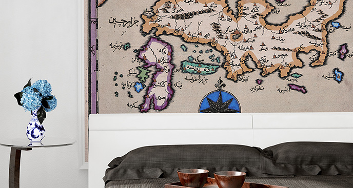 Fototapeta mapa retro dla podróżnika