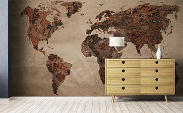 Fototapeta mapa świata retro