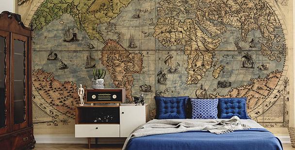 Fototapeta mapa świata starożytnego