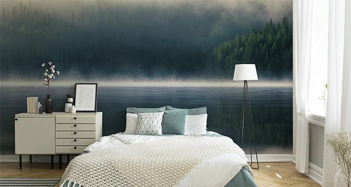 Fototapeta mgła nad jeziorem
