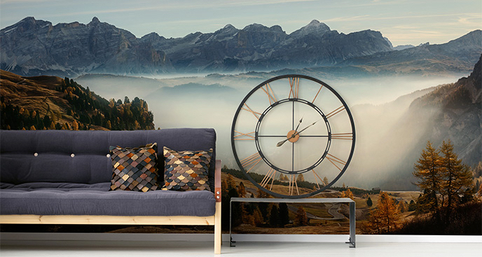 Fototapeta pejzaż we mgle