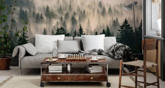 Fototapeta ośnieżony las