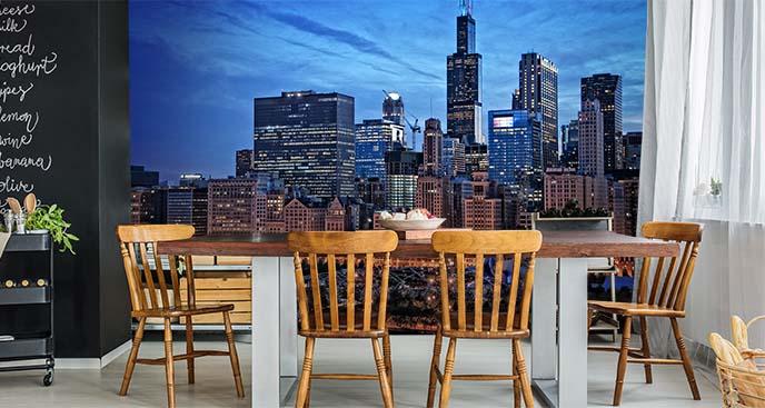 Fototapeta miasta nocą i Chicago