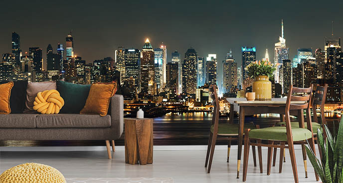 Fototapeta miasta nocą i Manhattan