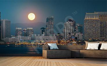 Fototapeta miasto nocą