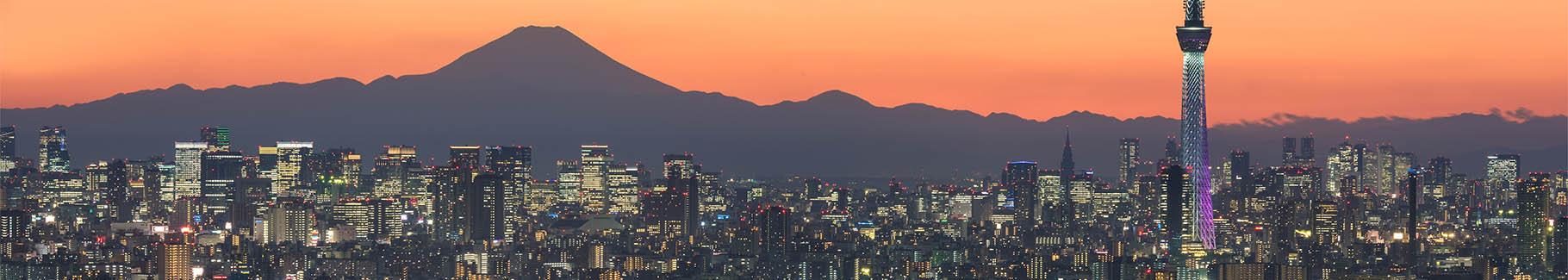 Fototapeta miasto nocą i Tokio