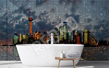 Fototapeta miasto pixel art