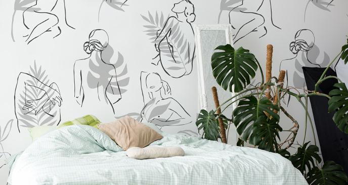 Fototapeta minimalistyczna roślinność