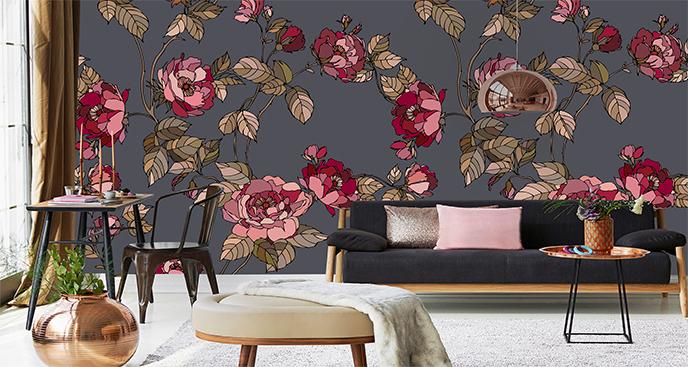 Fototapeta minimalistyczne róże