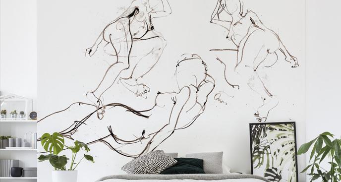 Fototapeta minimalistyczne szkice
