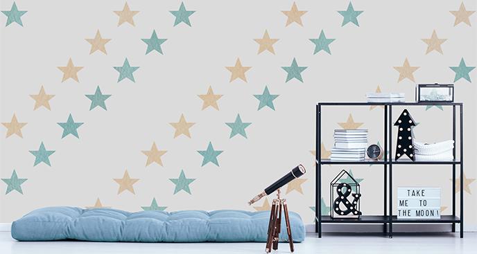 Fototapeta do pokoju młodzieżowego: gwiazdy