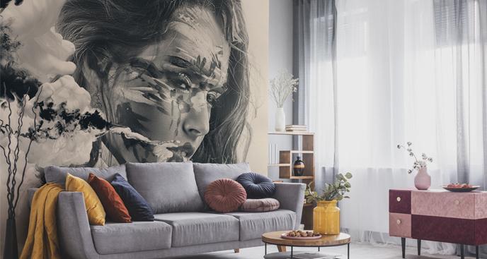 Fototapeta monochromatyczny portret
