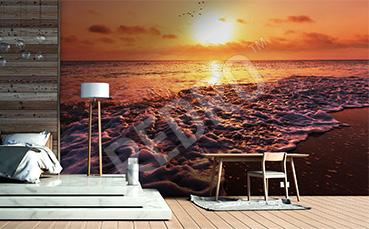 Fototapeta morze o zachodzie słońca