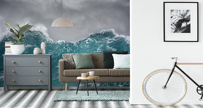 Fototapeta morze w trakcie burzy