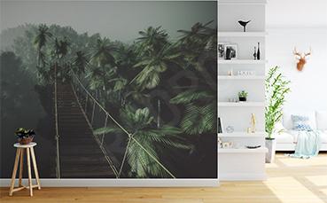 Fototapeta most linowy w dżungli