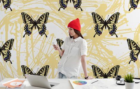 Fototapeta motyle do biura
