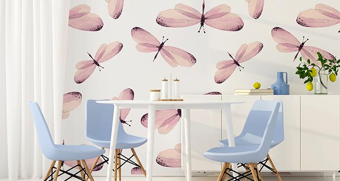Fototapeta motyle różowe