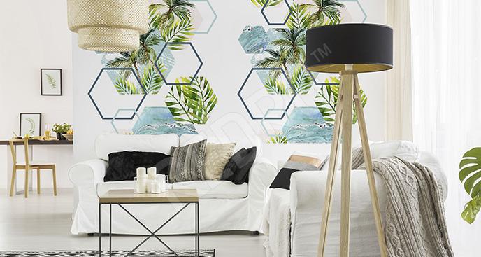 Fototapeta motyw palmy do salonu
