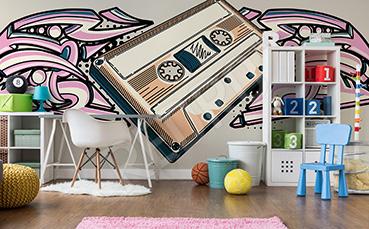 Fototapeta muzyczna kaseta retro