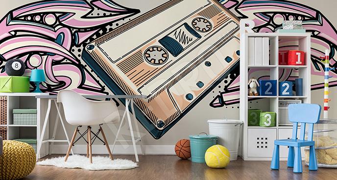Fototapeta muzyka: kaseta retro