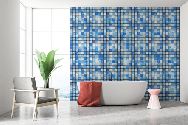 Fototapeta - Niebieska mozaika