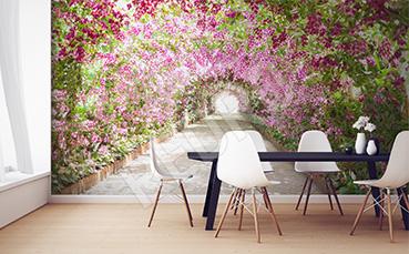 Fototapeta przestrzenna ogród