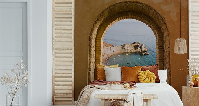 Fototapeta okno z pejzażem