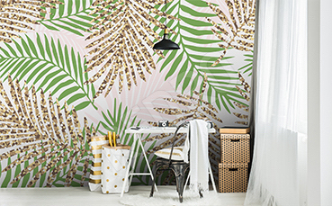 Fototapeta palmowe liście
