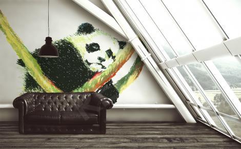 Fototapeta panda pastele
