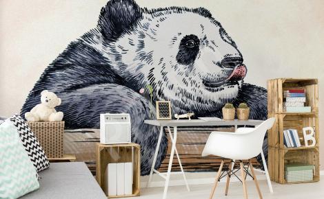 Fototapeta panda rysunek