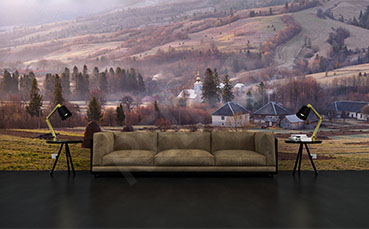 Fototapeta panorama do salonu