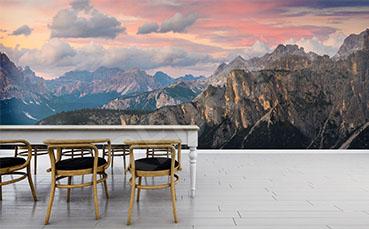 Fototapeta panorama Dolomitów