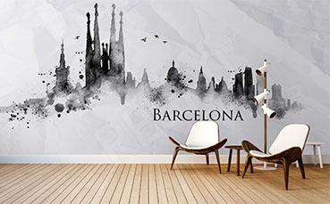 Fototapeta panorama miasta: Barcelona