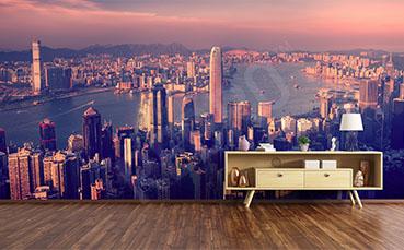 Fototapeta panorama miasta do przedpokoju