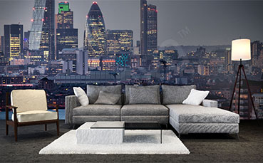 Fototapeta panorama miasta do salonu