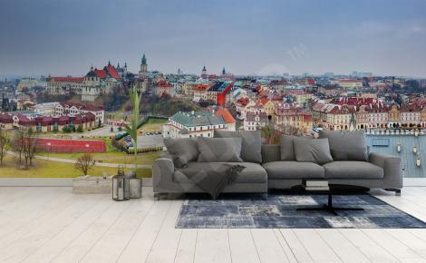 Fototapeta panorama miasta Lublin