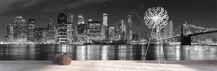 Fototapeta panorama miasta Nowy Jork nocą