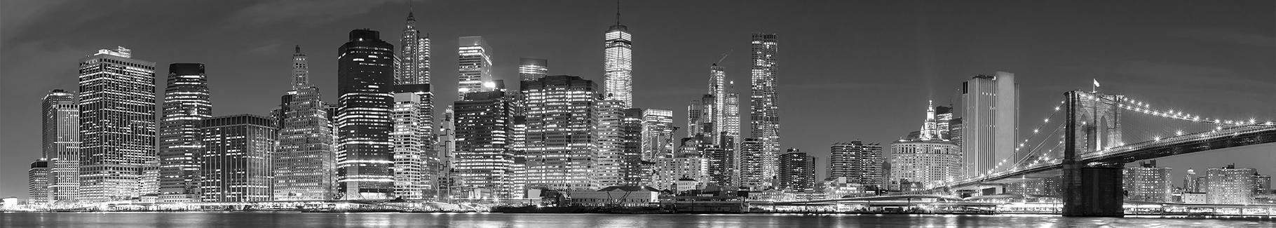 Fototapeta panorama miasta - Nowy Jork nocą