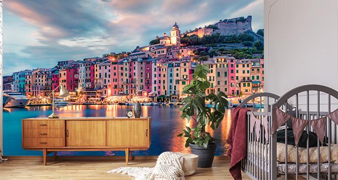 Fototapeta panorama miasta portowego