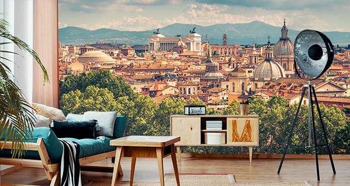Fototapeta panorama miasta - Rzym