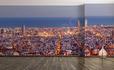 Fototapeta panorama miasta w Hiszpanii