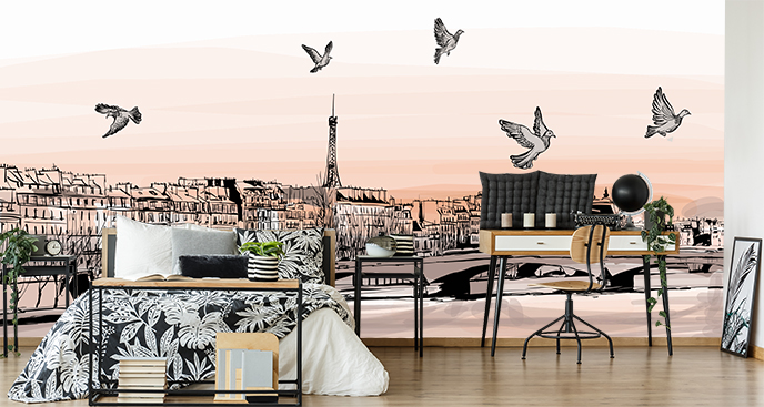 Fototapeta panorama miasta we Francji