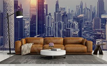 Fototapeta panorama miasta - wieżowce