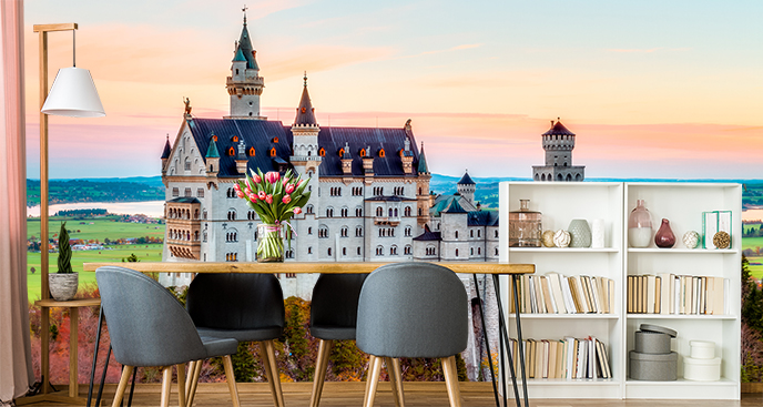 Fototapeta panorama miasta  - zamek